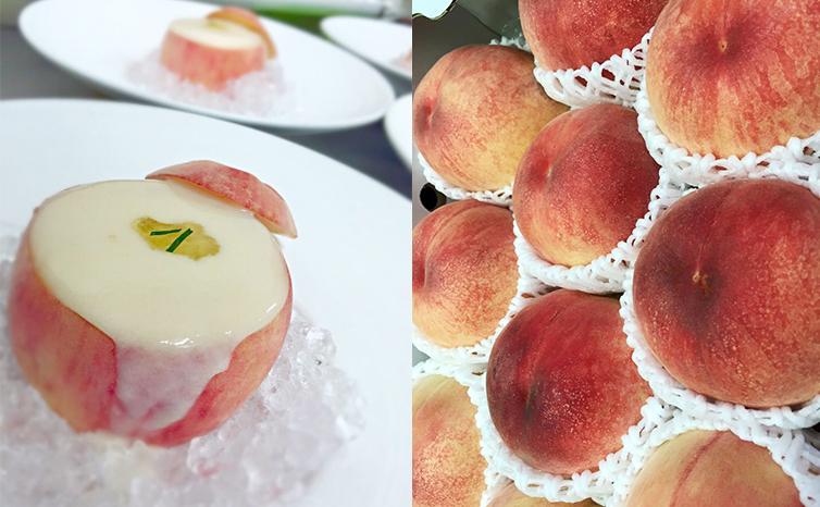 白桃とヨーグルトのスープ